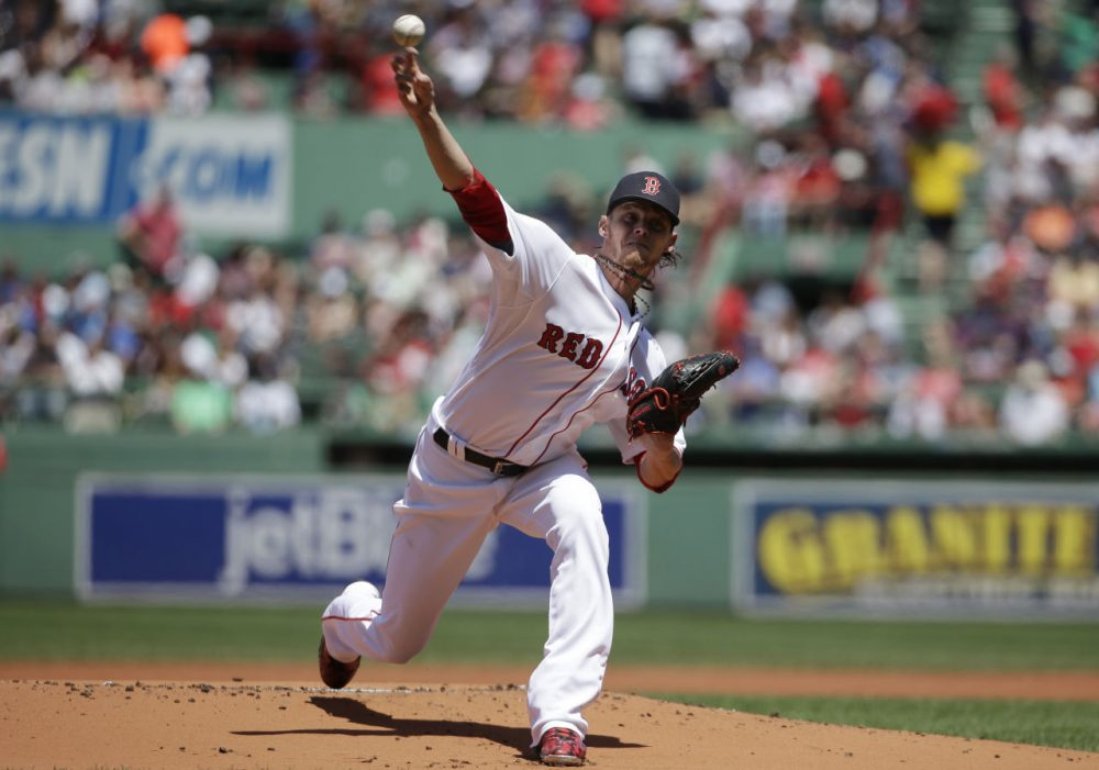Boston Red Sox's Clay Buchholz delivers a pitch against the Oakland Athletics on June 7, 2015, at Fenway. (Steven Senne/AP)