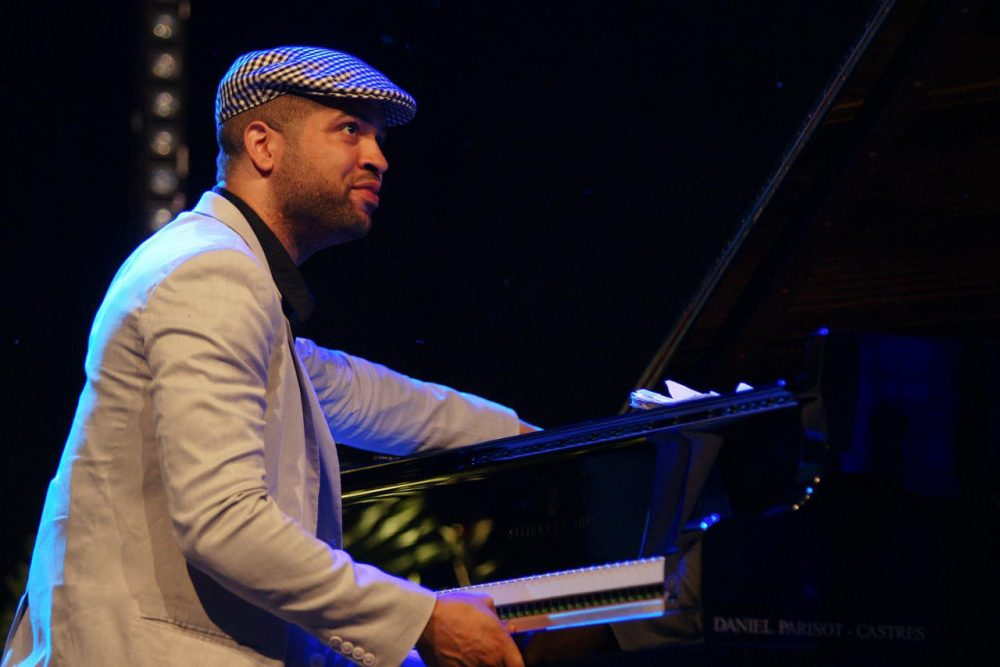Jason Moran performs at the Souillac en Jazz Festival in France in 2008. Moran currently serves as artistic director for jazz at the John F. Kennedy Center for the Performing Arts in Washington, D.C. (mpix46/Flickr)