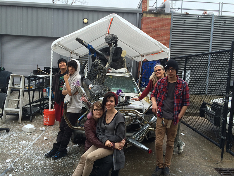 Students Create Hendrix Tribute For Art Car Parade
