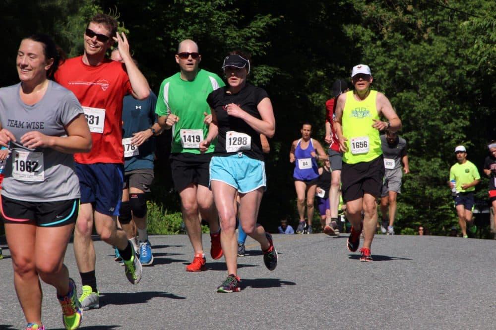 Runners take part in the Covered Bridges Half Marathon in Vermont, on June 7, 2015. (Greta Kaemmer)