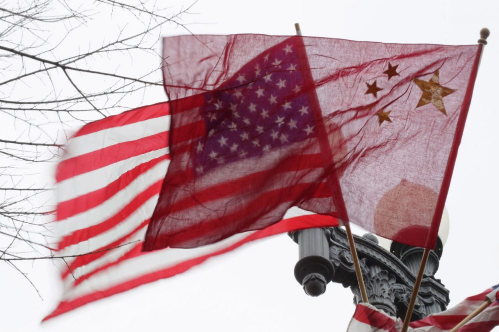 American and Chinese flags fly along Pennsylvania Avenue in front of the White House in Washington, Monday, Jan. 17, 2011.  (Carolyn Kaster/AP)