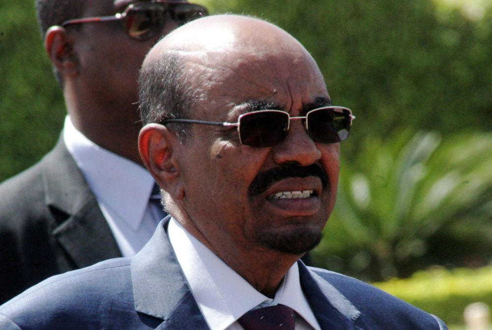 Sudanese President Omar al-Bashir looks on in the Sudanese capital Khartoum on March 23, 2015. Al-Bashir is to attend a meeting between Ethiopian Prime Minister Halemariam Desalegn and Egyptian President Abdel-Fattah al-Sisi, to sign an agreement on the sharing of Nile waters and Ethiopia's Grand Renaissance Dam. (Ebrahim Hamid/AFP/Getty Images)