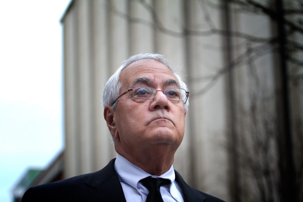 Former Massachusetts U.S. Rep. Barney Frank in Boston, in a 2012 file photo (Jesse Costa/WBUR)