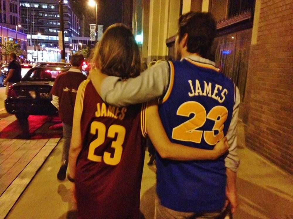 Ohioans have fallen in love with the Cavs this year. (WCPN)