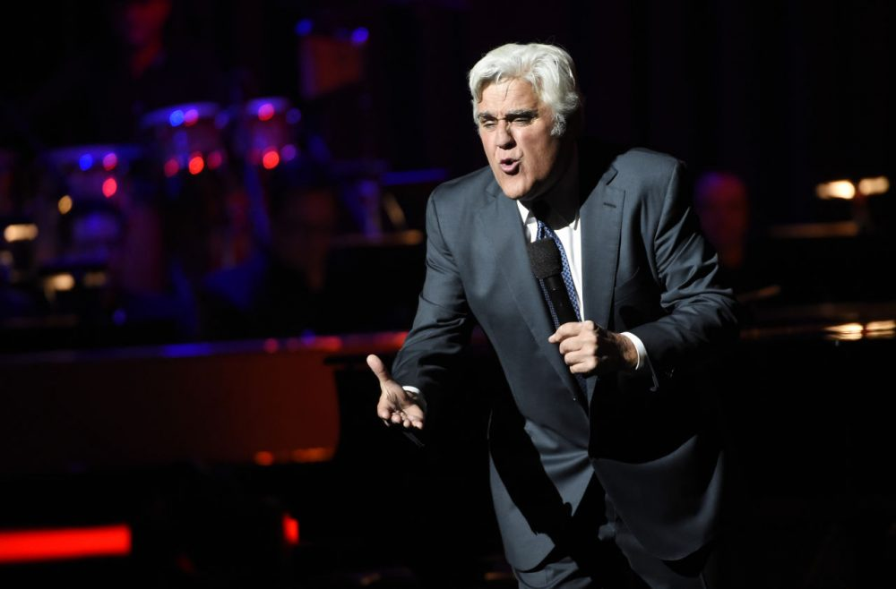 Comedian Jay Leno, an alum of Emerson College, performs at the Dolby Theatre in Los Angeles in May. (Chris Pizzello/Invision/AP)
