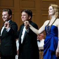 """Jason Danieley, Keith Lockhart and Kate Baldwin after a recent performance of """"Simply Sondheim."""" (Liza Voll)"""