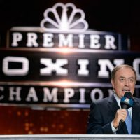 There has only been one play-by-play commentator to broadcast all four major sports championships: Al Michaels. In over 40 years of bradcasting he has covered the Super Bowl, World Series, Stanley Cup Final, and NBA Finals. (Harry How/Getty Images)