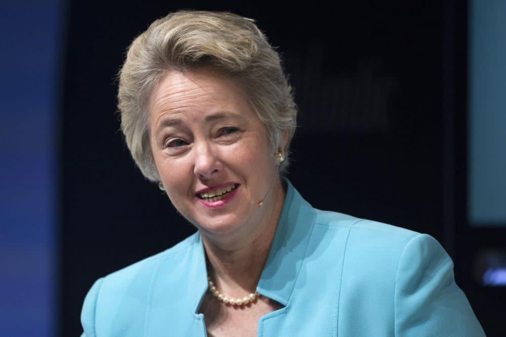 Houston Mayor Annise Parker participates in the Sixth Annual Washington Ideas Forum in Washington, Thursday, Oct. 30, 2014. (Cliff Owen/AP)