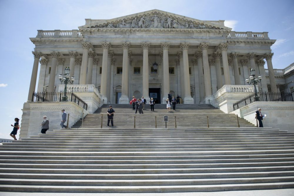 Members of Congress leave after a series of votes effecting the fast tracking of the Trans-Pacific Partnership on Capitol Hill June 12, 2015 in Washington, DC. The House of Representatives voted down a bill that will could effect the fast tracking of the Trans-Pacific Partnership trade agreement. (Brendan Smialowski/AFP/Getty Images)