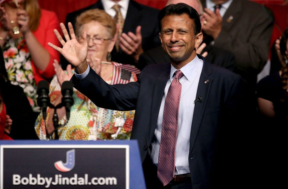 Louisiana Governor Bobby Jindal announces his candidacy for the 2016 Presidential nomination during a rally a the Pontchartrain Center on June 24, 2015 in Kenner, Louisiana. (Sean Gardner/Getty Images)