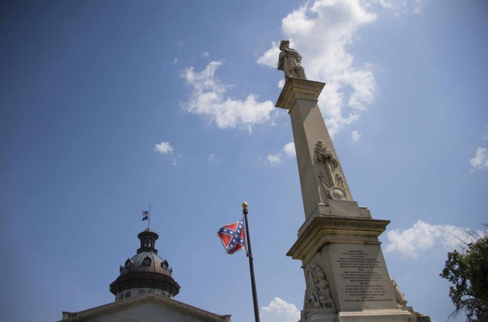 The Confederate Flag flies on the South Carolina State House grounds in Columbia, South Carolina, June 24, 2015. (Jim Watson/AFP/Getty Images)