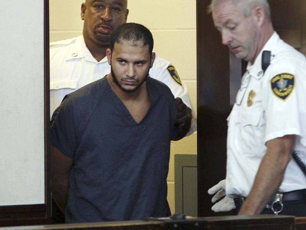 Edwin Alemany during his August 2013 arraignment. (Angela Rowlings/BostoHerald/Pool)