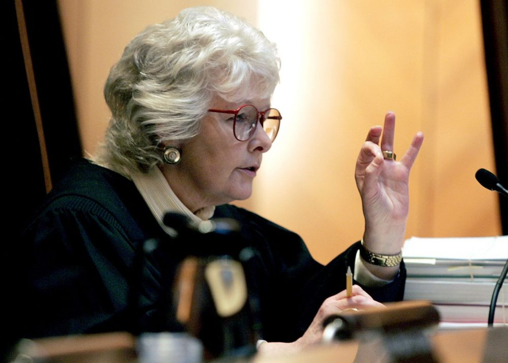 Chief Justice Margaret Marshall in 2005. (George Rizer/AP/File)