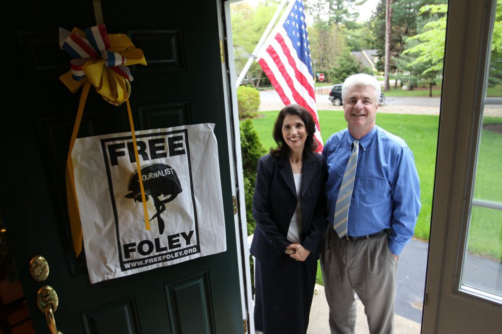John and Diane Foley, parents of journalist James Foley, are photographed at their home in Rochester, N.H. (AP Photo/Cheryl Senter)