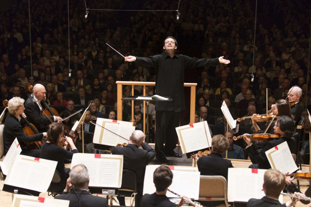 Andris Nelsons conducts the Boston Symphony Orchestra in its 2014-2015 season. (Marco Borggreve)