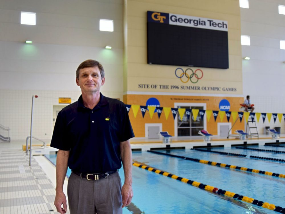"""I believe we got a pretty good return,"" says Georgia Institute of Technology campus recreation director Mike Edwards, who managed the aquatics center during the 1996 Atlanta Olympics. (Alison Guillory for WBUR)"