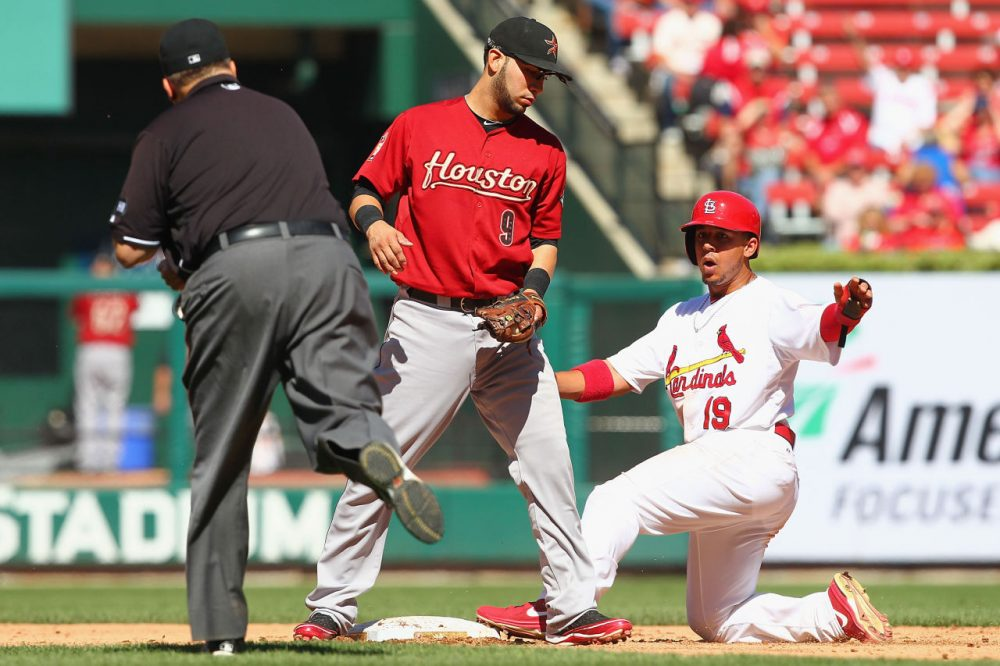 The St. Louis Cardinals are being investigated for trying to steal more than just bases from the Houston Astros. (Dilip Vishwanat/Getty Images)