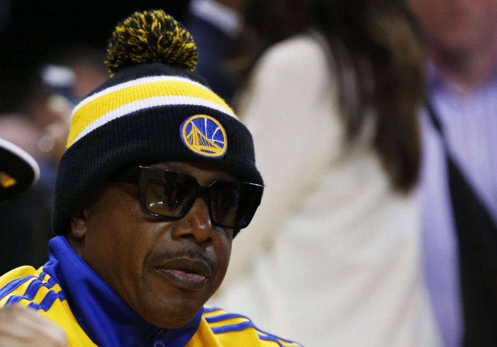 MC Hammer has been supporting the Golden State Warriors during the Finals, as the Oakland native has made appearances at Oracle. (Ezra Shaw/Getty Images)
