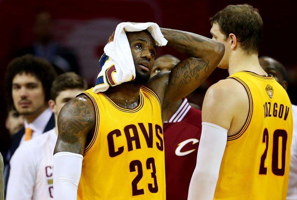 The Cleveland Cavaliers have injuries out the kazoo, but have these Finals lived up to the hype? (Ronald Martinez/Getty Images)
