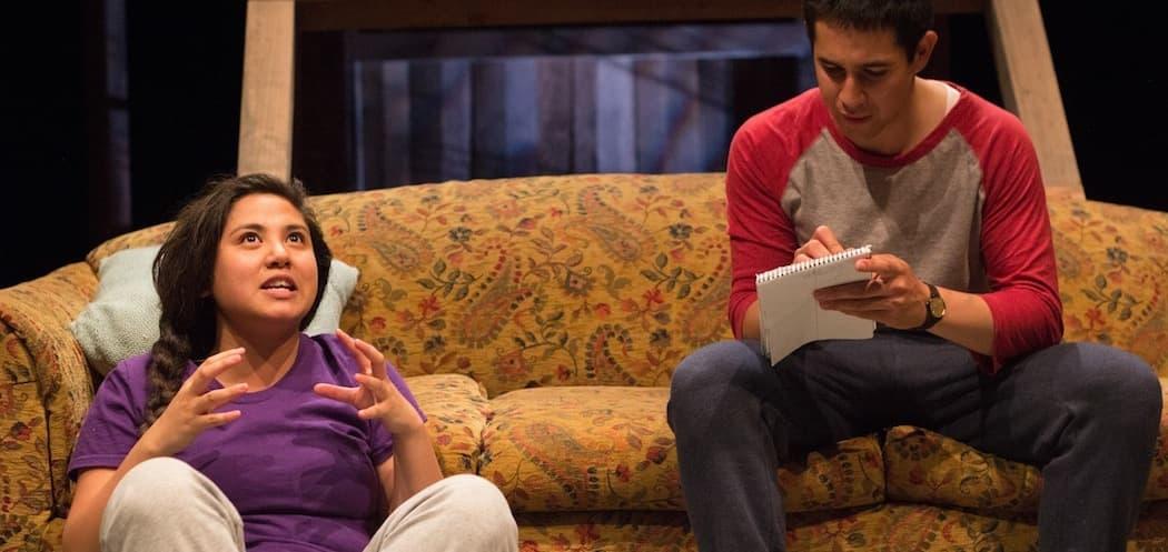 Maria Jan Carreon and Gideon Bautista as children on their own. (Paul Fox)