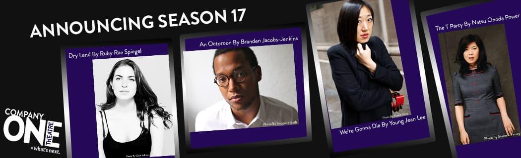 Company One Theatre Season 17 announcement. (Chris Rubino, Imogen Heath, Blaine Davis and Sharon Finney)