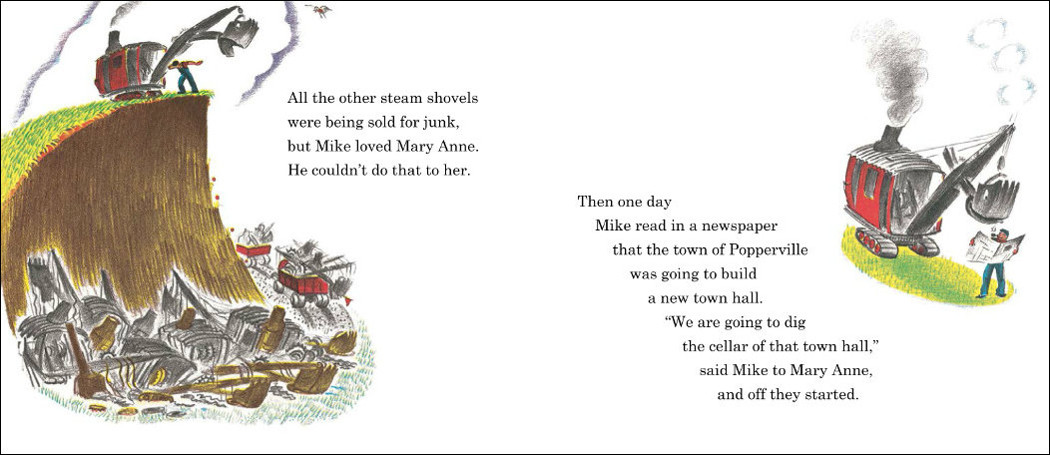 "A page from ""Mike Mulligan and his Steam Shovel."" (Courtesy Houghton Mifflin Harcourt)"
