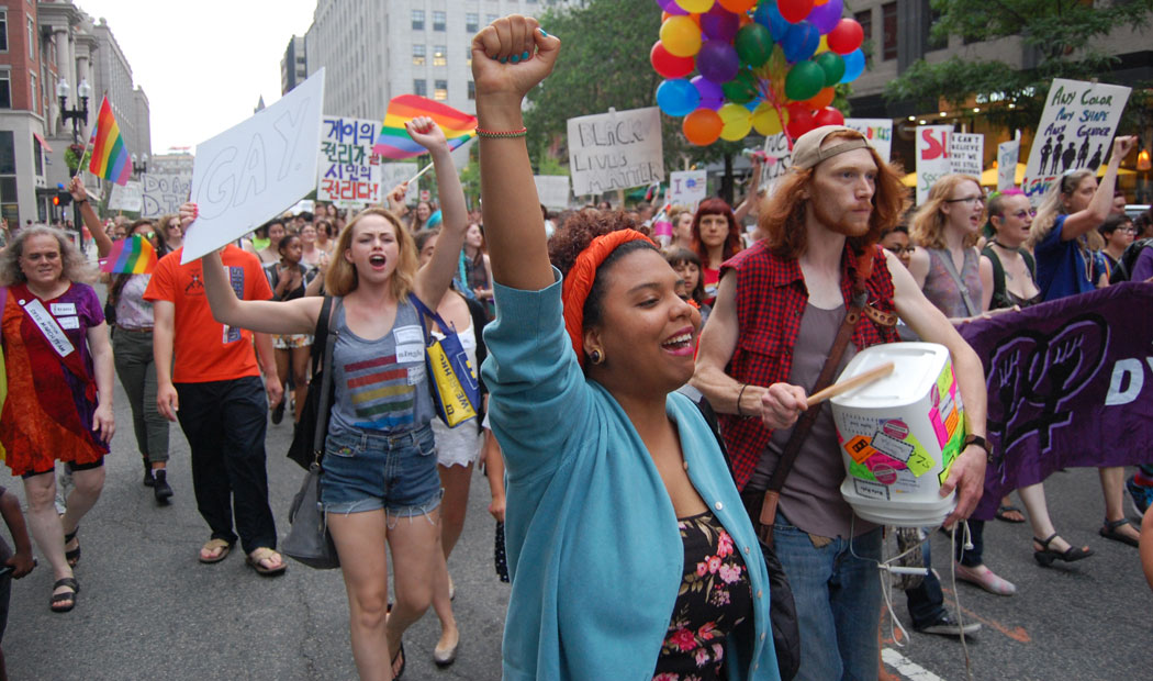 The 2015 Boston Dyke March. (Greg Cook)