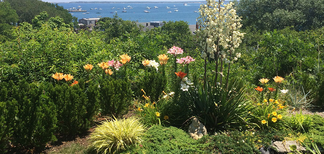 "A seaside vista from the Provincetown Art Association and Museum's ""Secret Garden Tour."" (Courtesy)"
