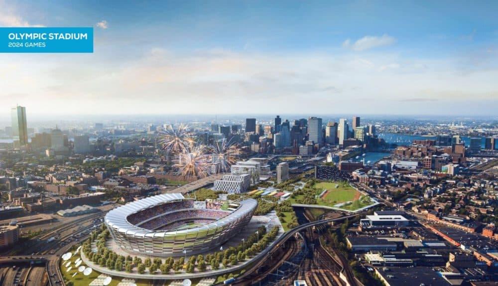Boston 2024's plan for an Olympic Stadium at Widett Circle in Boston. (Boston 2024)