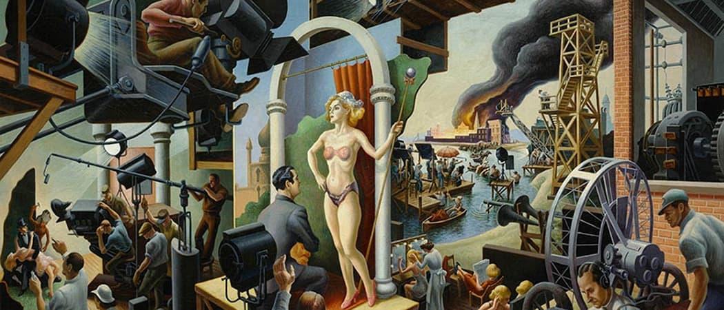 """Hollywood,"" by Thomas Hart Benton, 1937-1938. (Courtesy PEM)"