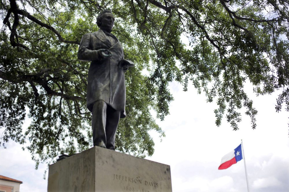 A statue of Jefferson Davis is seen on the University of Texas campus in Austin, Texas.(Eric Gay/AP)