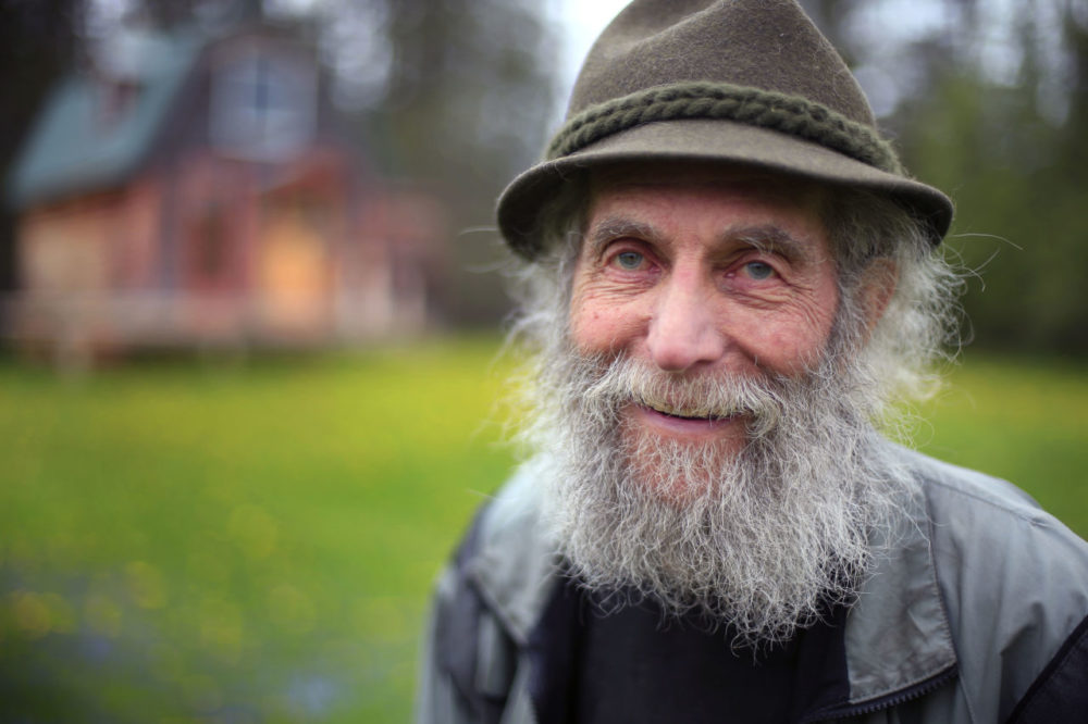 In May 23, 2014, file photo, Burt Shavitz poses for a photo on his property in Parkman, Maine. Shavitz, a former beekeeper, is the Burt behind Burt's Bees. (Robert F. Bukaty/AP)