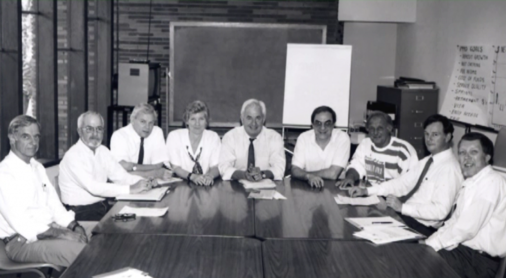 The original Los Altos Rotary Aids Project task force. (Courtesy)