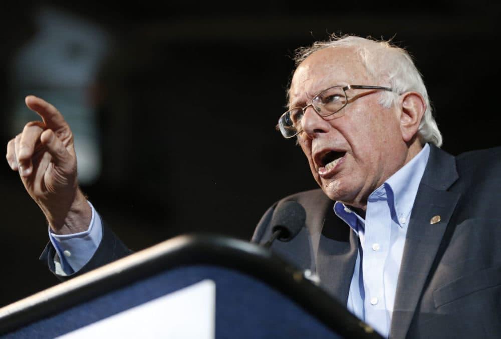 Democratic presidential candidate Sen. Bernie Sanders, I-Vt., speaks at a campaign rally in July in Portland, Maine. (Robert F. Bukaty/AP)
