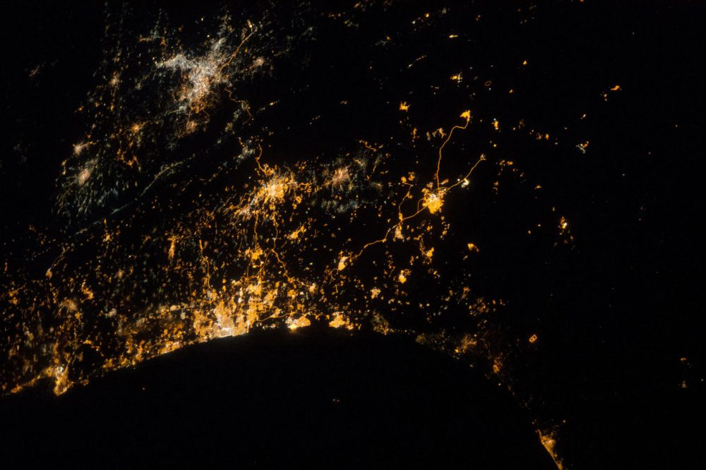 An early morning view photographed by one of the Expedition 40 crew members aboard the Earth-orbiting International Space Station on July 22, 2014. (NASA)