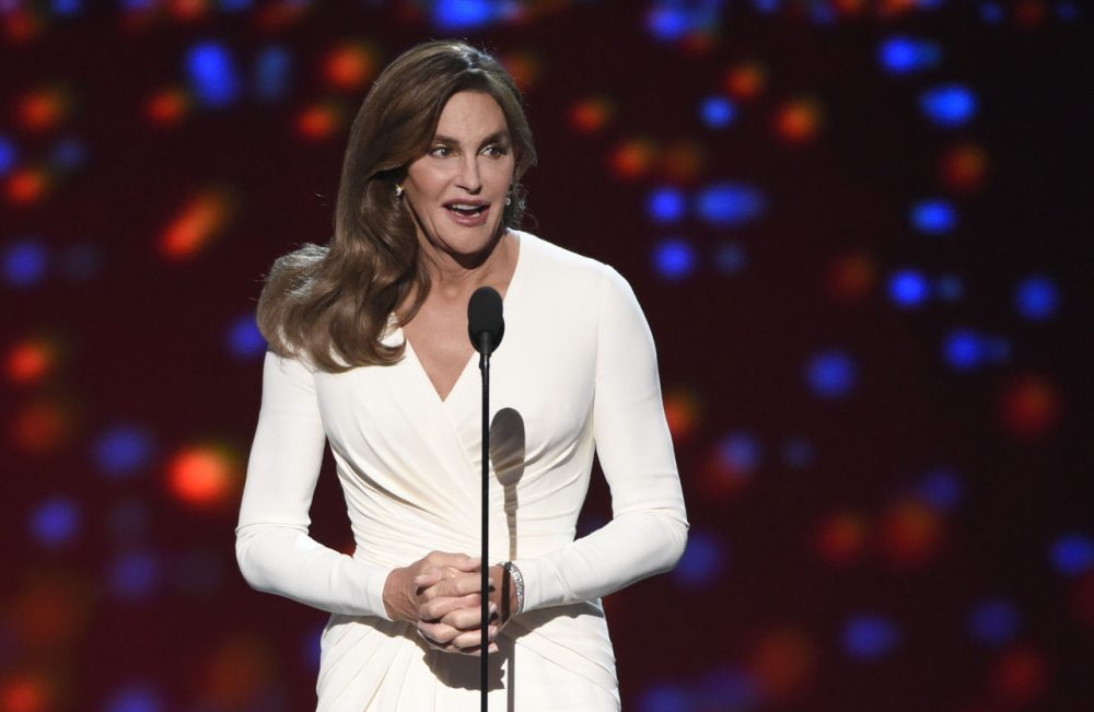 Caitlyn Jenner accepts the Arthur Ashe award for courage at the ESPY Awards at the Microsoft Theater on Wednesday, July 15, 2015, in Los Angeles. (Chris Pizzello/Invision/AP)