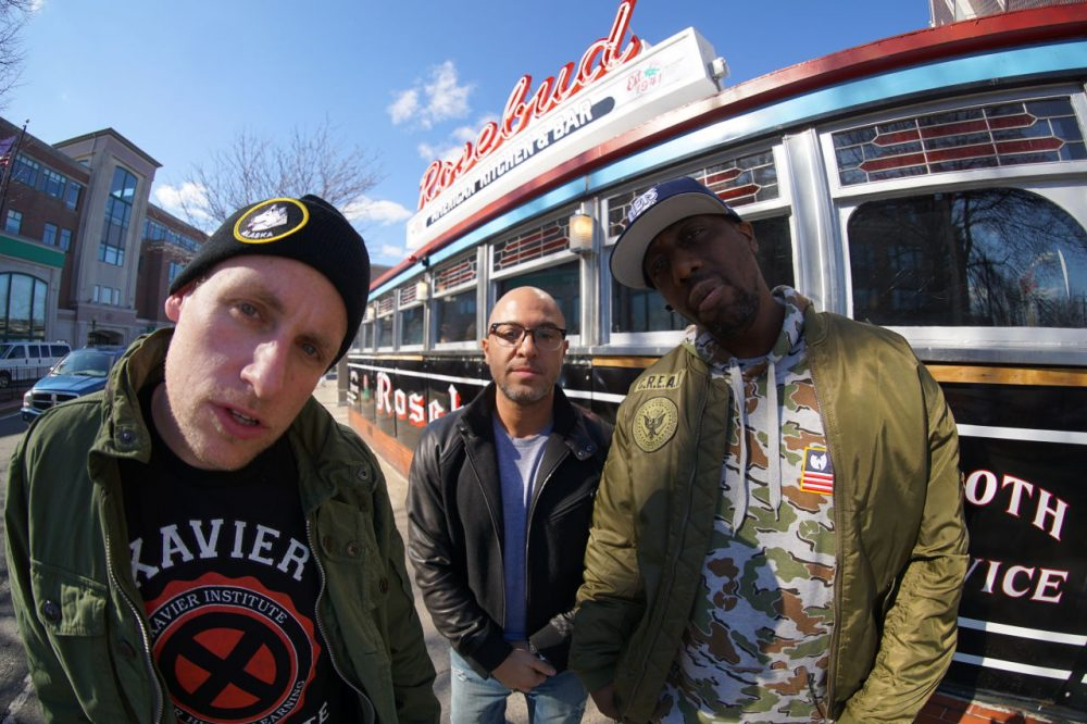 From left to right, Esoteric (Seamus Ryan), 7L (George Andrinopoulos) and Inspectah Deck (Jason Hunter). (Courtesy Bill X)