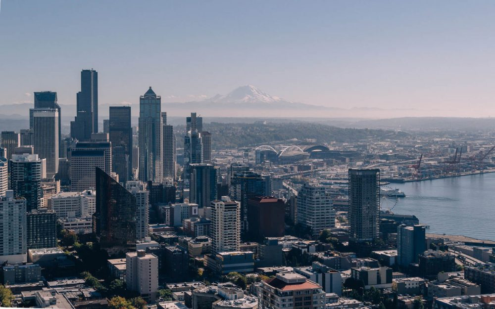 Seattle is 54 miles northwest of Mount Rainier, the highest mountain in the Cascade Range. It rises along the fault line called the Cascadia subduction zone. (saltyfoto/Flickr)