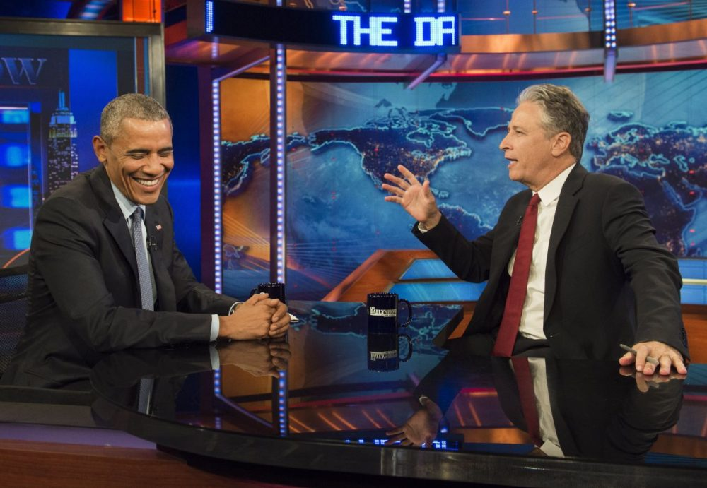 jon stewart interviews president obama for last time on 'the daily