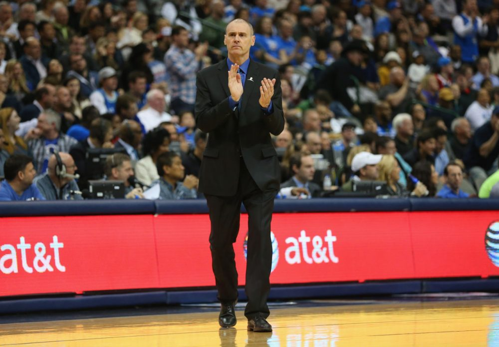 Former NBA guard Rick Carlisle has won an NBA championship as a coach of the Dallas Mavericks. Carlisle has been roaming the sidelines in Texas for 7 seasons. (Ronald Martinez/Getty Images)