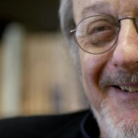 Novelist E.L. Doctorow, pictured here in April 27, 2004, relentlessly challenged convention, insisting that we open our eyes and hearts. According to Doctorow's son Richard, the author died Tuesday, July 21, 2015, in New York from complications of lung cancer. He was 84. (Mary Altaffer/AP)
