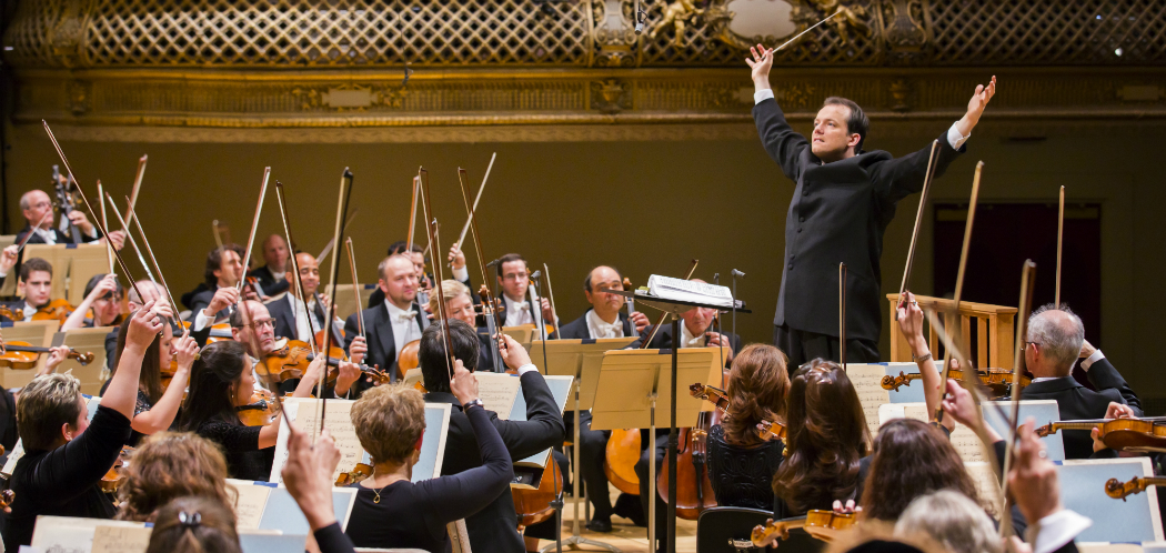 Andris Nelsons leading the Boston Symphony Orchestra. (Chris Lee)