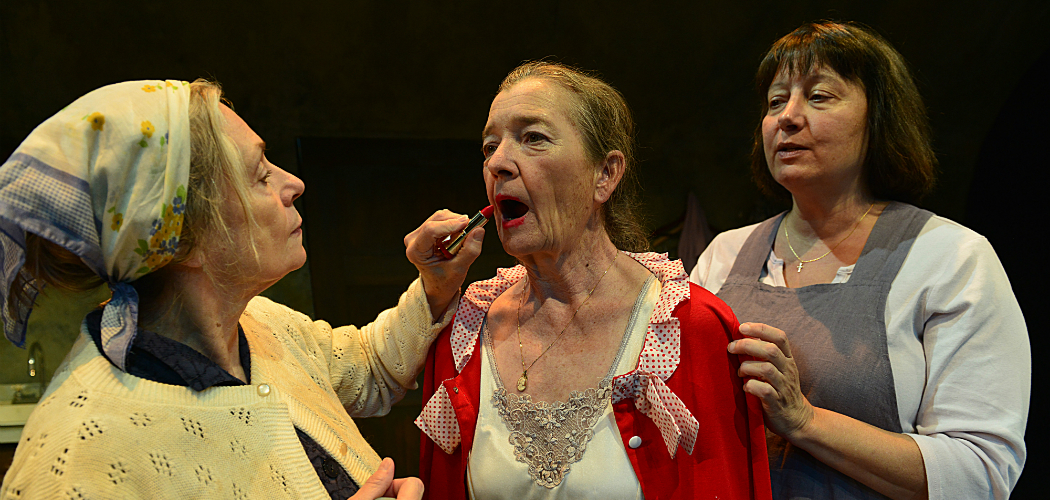 "Marya Lowry as Clara, Nancy E. Carroll as Breda and Adrianne Krstansky as Ada in ""The New Electric Ballroom."" (Gary Ng)"