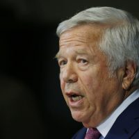 Patriots owner Robert Kraft has been charged with two counts of soliciting prostitution. (Stephan Savoia/AP)