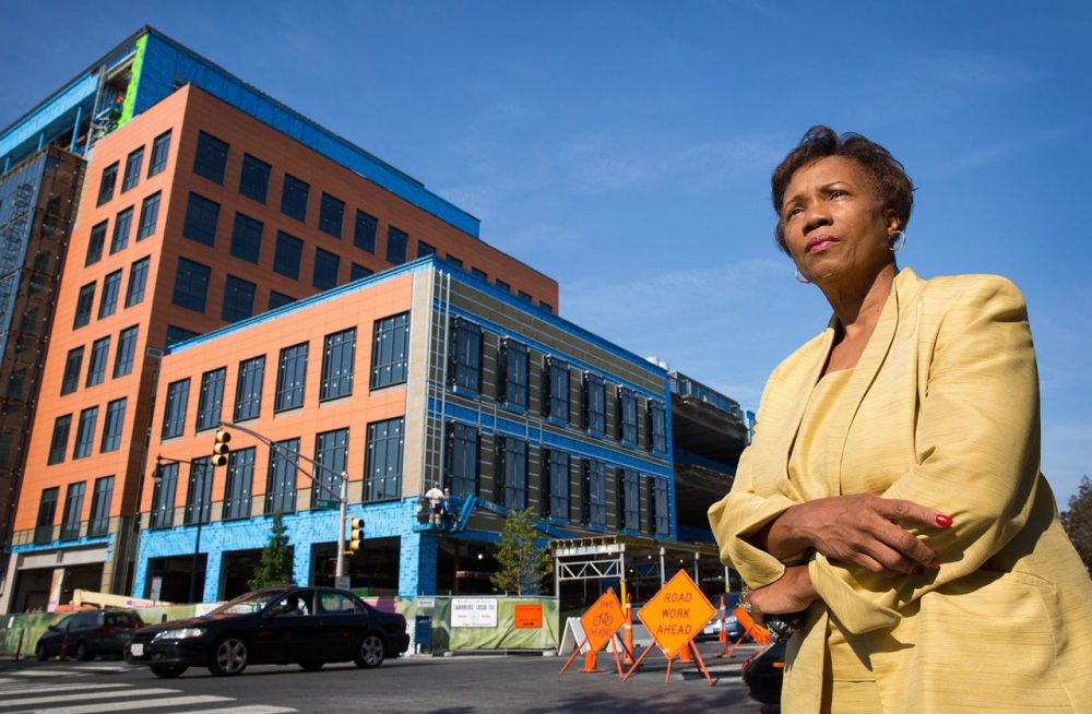 Cambridge City Councilor Denise Simmons is pushing a hike in the city's linkage fees, which go toward an affordable housing trust. (Robin Lubbock/WBUR)