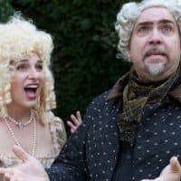 """Stephanie Kacoyanis (Nancy) and Jason Budd (Plunkett) of Boston Midsummer Opera's """"Martha"""" Production (Courtesy Boston Midsummer Opera)"""