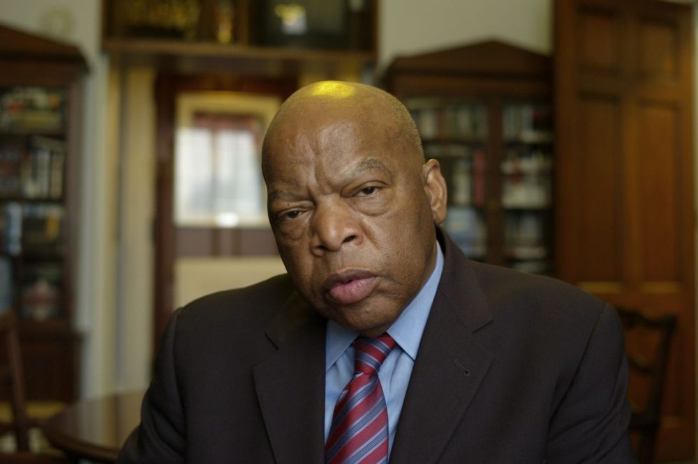 Rep. John Lewis, D-Ga., in his office on Capitol Hill in Washington. (Harry Hamburg/AP)