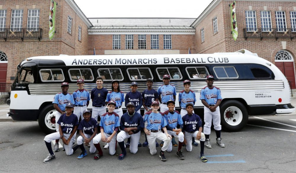 Mo'ne Davis and the Anderson Monarchs visited 21 cities on their bus tour, including the Baseball Hall of Fame in Cooperstown, New York. (Mike Groll/AP)