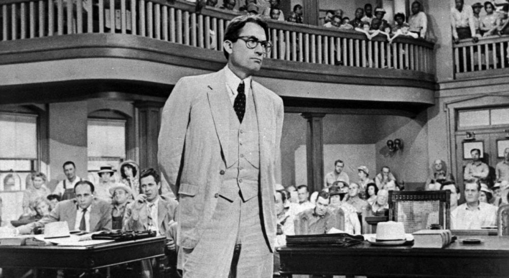 "Actor Gregory Peck is shown as attorney Atticus Finch, a small-town Southern lawyer who defends a black man accused of rape, in a scene from ""To Kill a Mockingbird,"" based on the novel by Harper Lee. July 14, 2015 saw the publication of Lee's ""Go Set A Watchman,"" a kind of sequel to ""To Kill a Mockingbird,"" which presents a very different Atticus Finch. (Universal/AP)"