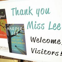 "Alex Green: ""Overly-prolific authors always make me think more fondly of writers like Harper Lee. Perhaps her ilk do not publish as much, but I always figured that the quality of their small output indicated that they had kind friends or good editors."" Pictured: A sign welcoming book fans to Monroeville, Ala., the hometown of ""To Kill a Mockingbird"" author Harper Lee. Lee's second book ""Go Set a Watchman"" was released July 14, 2015. (Jay Reeves/AP)"